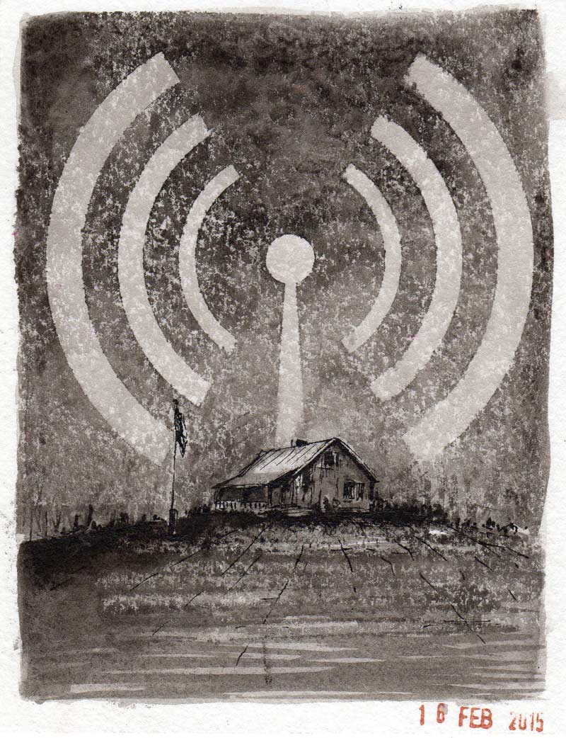 Redneck. Michael Croft. Ink drawing.
