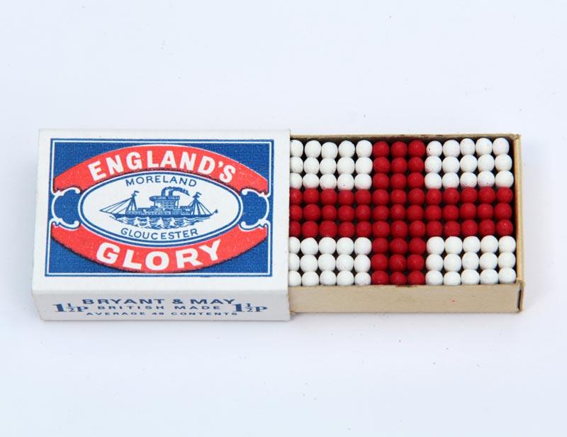 Michael Croft, Artist, England's Glory, matches, matchbox