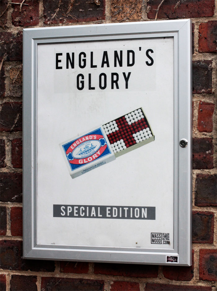 England's Glory | SPECIAL EDITION | Poster at Building F, Stoke Newington Church Street | match box | Michael Croft | Artist.