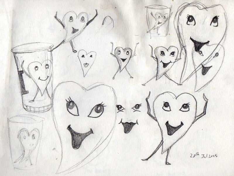 Joyous Heart, pencil drawing - Michael Croft - London Artist