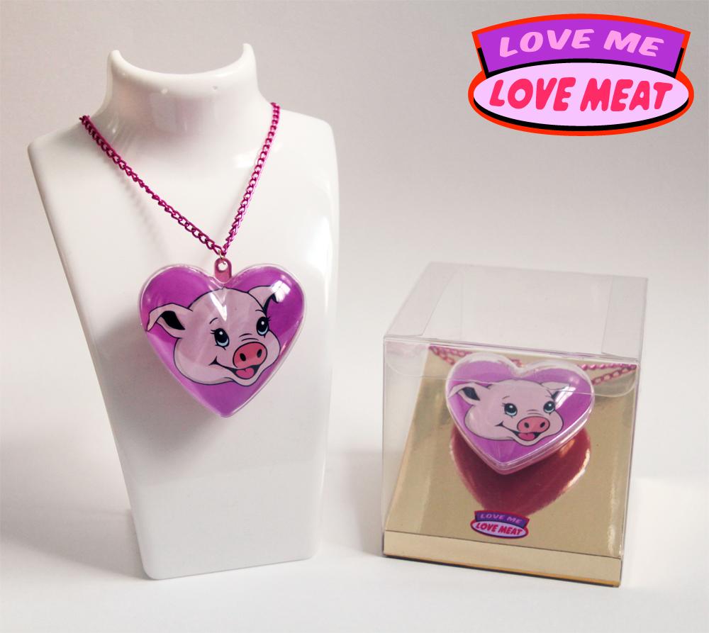 Love Meat Promotional Piglet Pendant   Michael Croft   Artist
