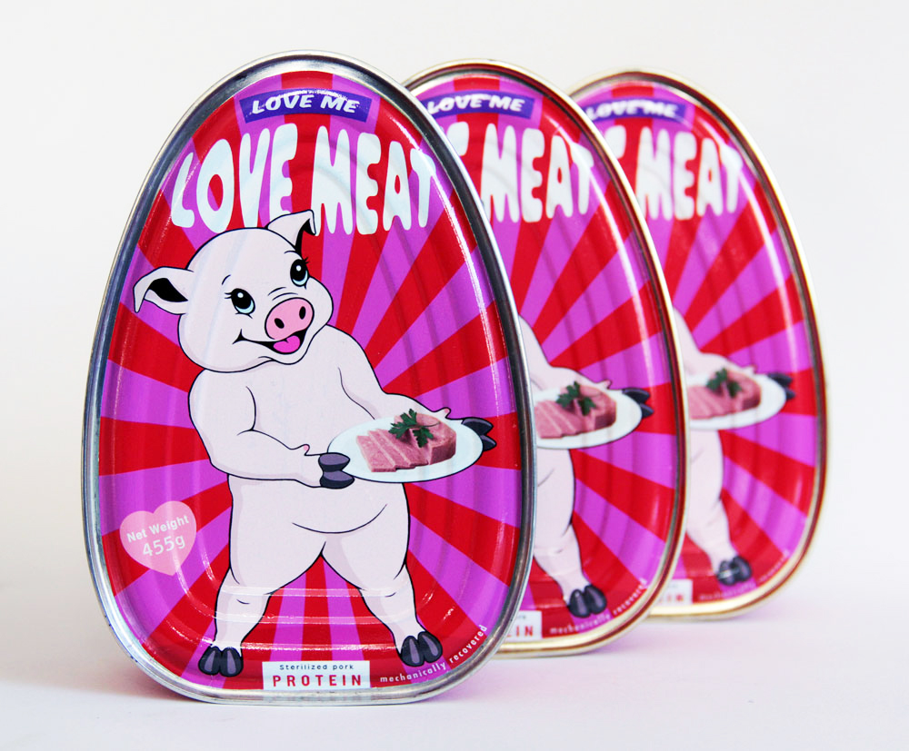 'Love Meat'| Meat Product | Michael Croft | Painting | Art | Artist.