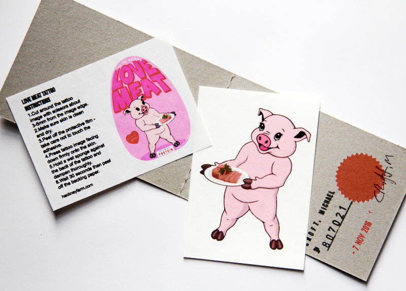 Love Meat - Hackney Farm - Michael Croft - Serving Suggestion - Temporary tattoo - product promotion