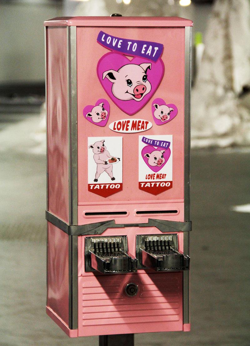 Love Meat | Promotional Vending Machine from Hackney Farm | Michael Croft | Artist