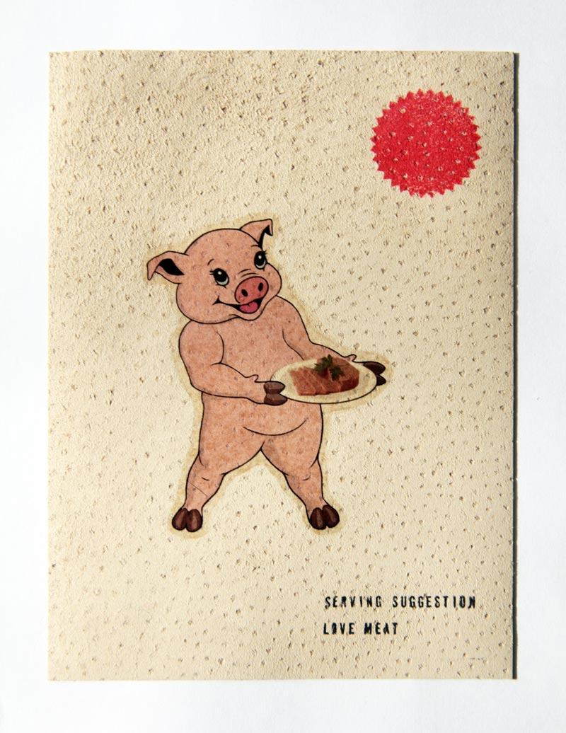 Temporary Tatto on Pig Skin - Love Meat - Michael Croft | art | artist | painting