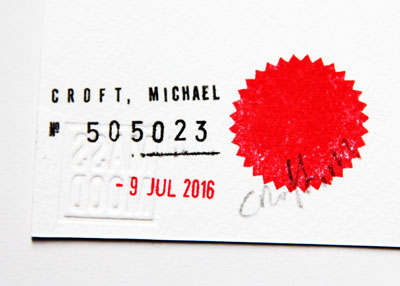 Michael Croft Date Stamp. / Retard / Art /