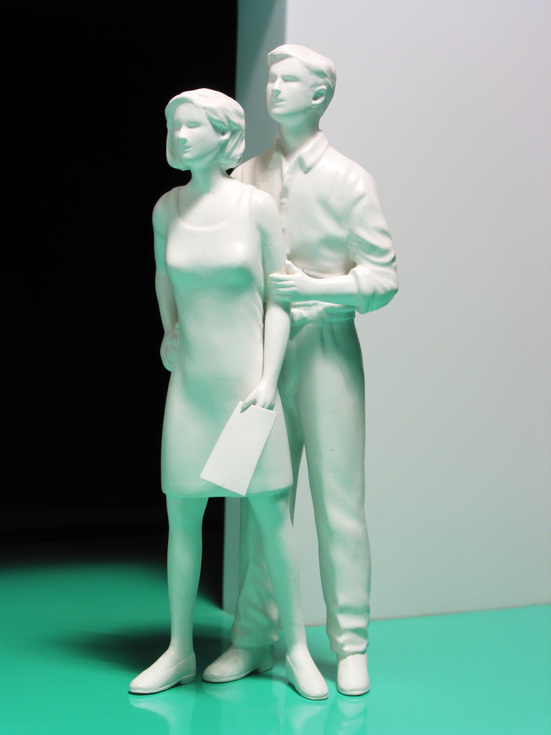 Successful Happy Couple Going Places - Michael Croft - London Artist