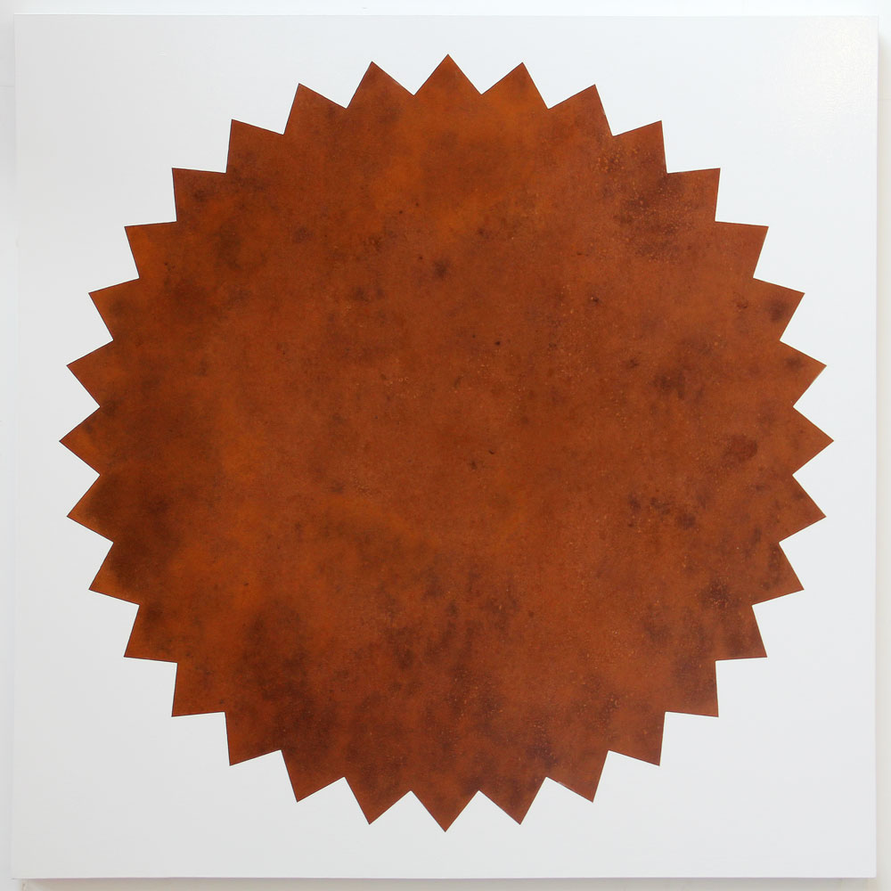 SUPERSTAR. Iron oxide, oil, enamel on canvas. 2015. 150x150cm. Michael Croft. Painting. /art/