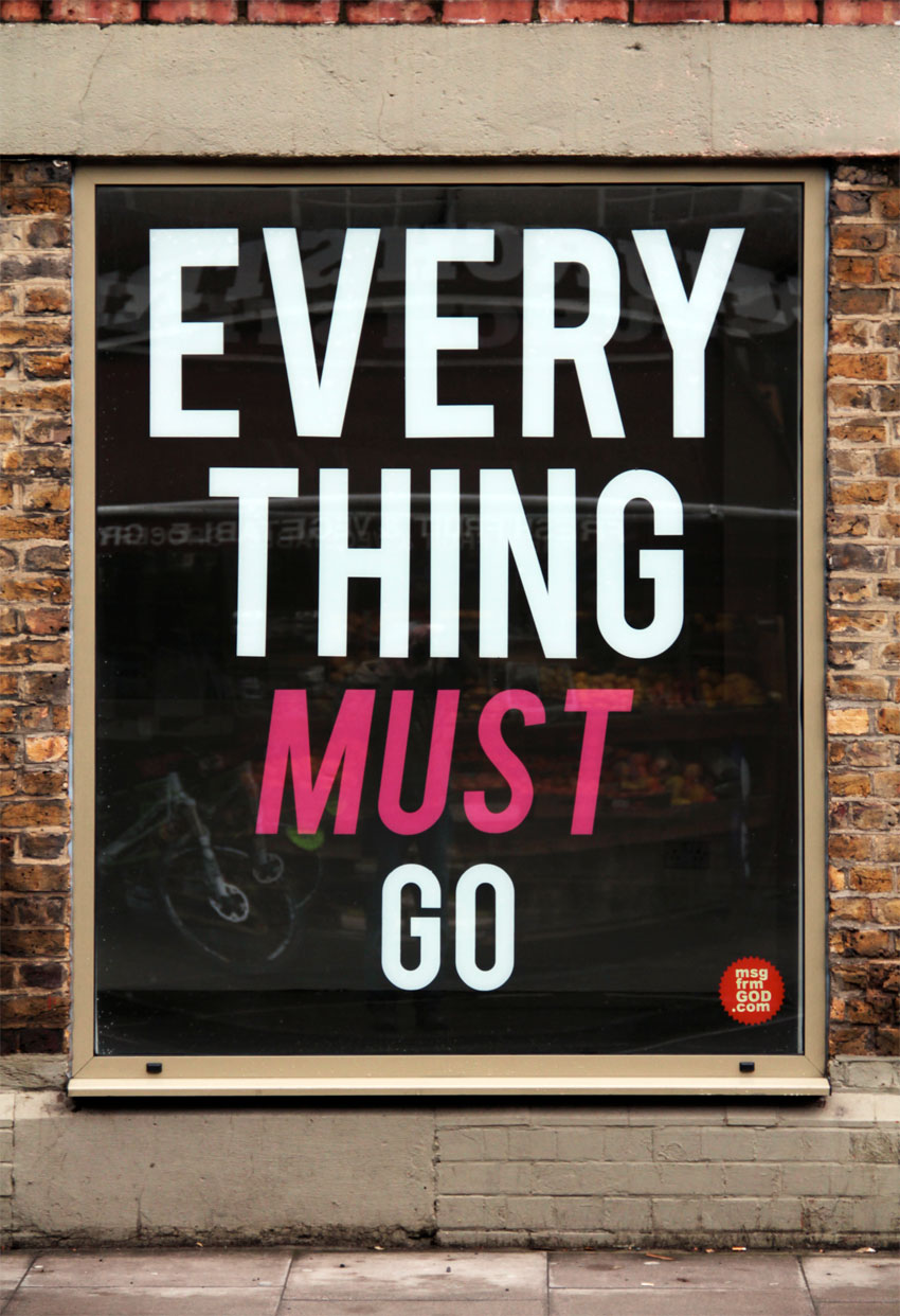 Michael Croft | Artist | msg frm GOD | EVERY THING MUST GO