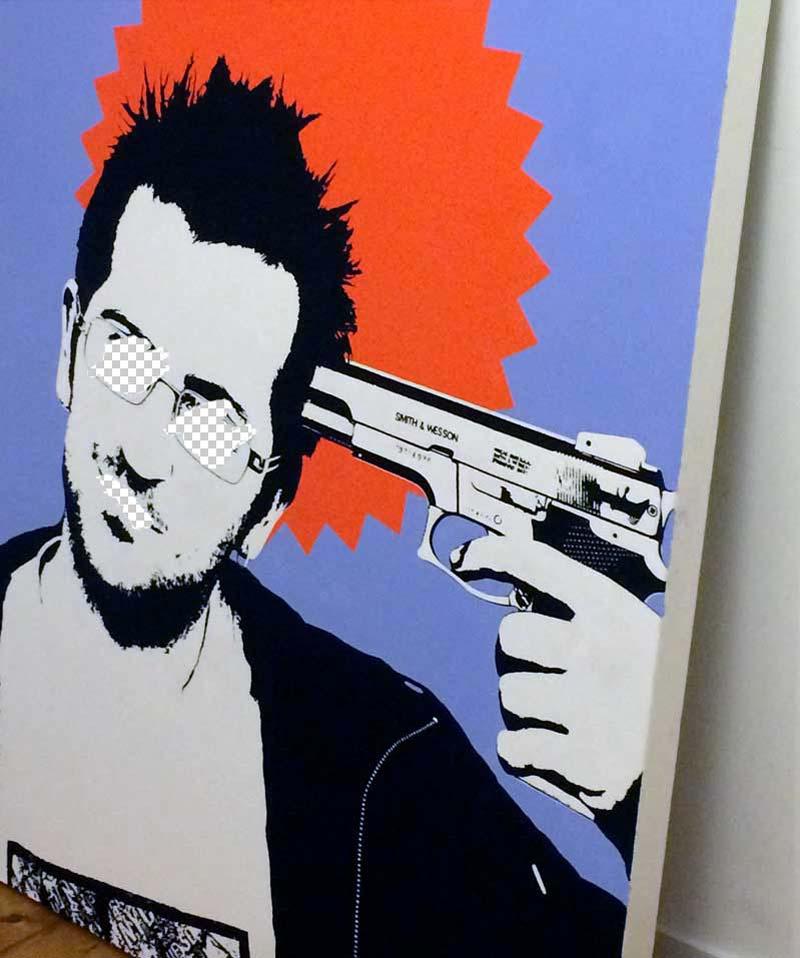 Banksy painting - Michael Croft - London Artist