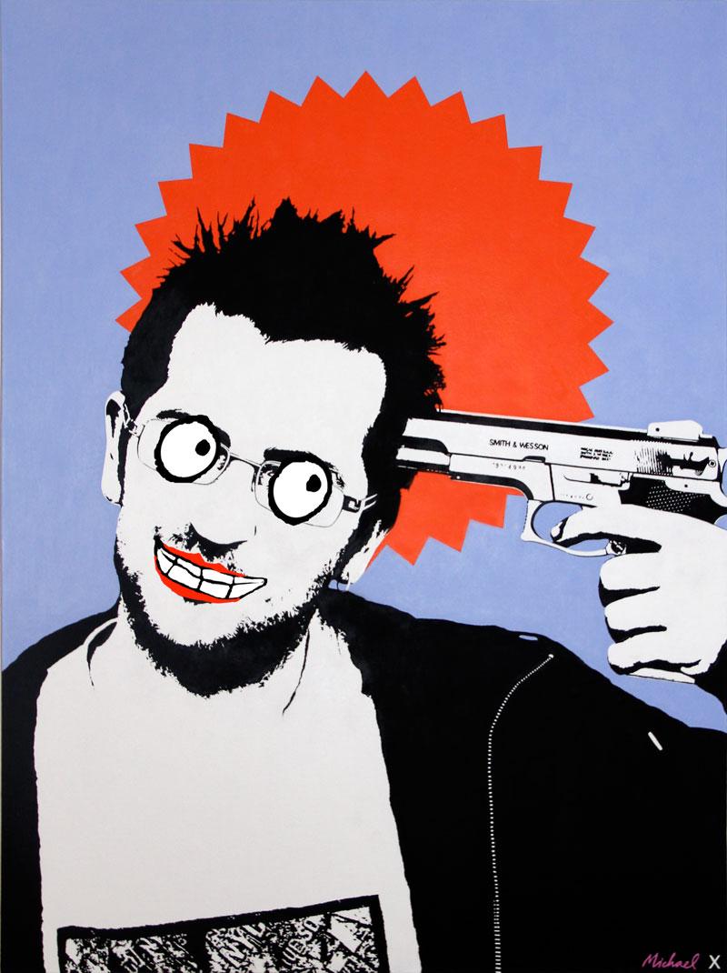 Banksy Identity Painting - Michael Croft - London Artist